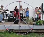 Me, Margo Buccini, & Essra Mohawk @ Nashville Peace Festival 2010