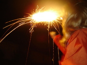 me with sparkler on May holiday weekend