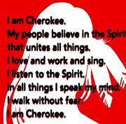 I am Cherokee