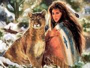 Mountain Lion and Woman