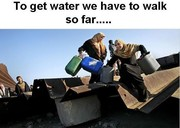 Gaza getting water is not easy...