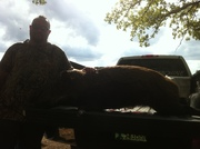 jimmy kyles dad with his 1st knife and dog killed hog at all about u ranch and outfitters 10/2011