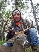 bill rogers with a 140 in whitetail killed at all about u ranch and outfitters 10/12
