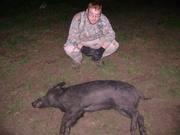 Joshua First Pig
