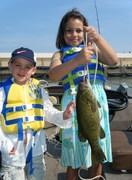 Rachel bday 1st fish ever!