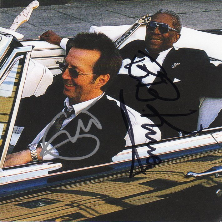 Eric Clapton BB King Signed Riding With The King CD