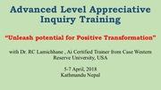 Advanced Level Appreciative Inquiry Training