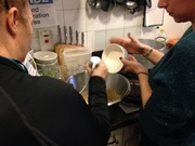 Adding flour to the mix