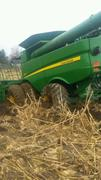 John Deere Combine Stuck in the Mud