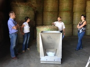 Bob Wilson talking about his on-farm feed tester