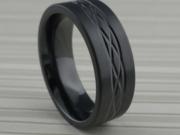 Celtic Knot Wedding Ring in Black Zirconium