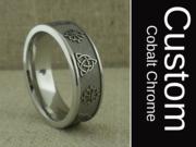 Custom Wedding Ring in Cobalt Chrome
