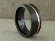 Black Zirconium Wedding Ring