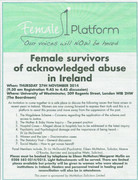 Female Survivors of acknowledged abuse in Ireland