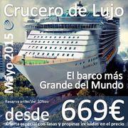 Crucero Single de Lujo 2015 a precio de Oferta Hasta 30 noviembre