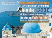 crucero para solteros en islas griegas de Vacaciones Singles
