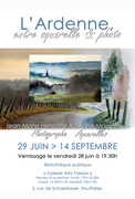 L'Ardenne, entre aquarelle et photo.