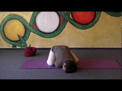 Child's Pose - special variation of the Hatha Yoga Asana Garbhasana