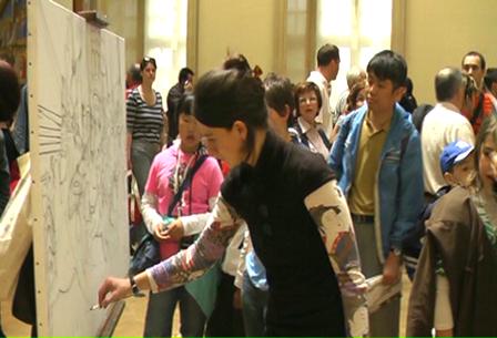 Art imitating Art, Musee du Louvre