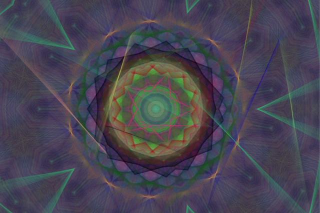 Interactive Spiro and Kaleidoscope in Dual Paint Mode