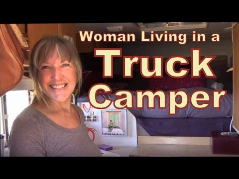 Fearless Retired Woman Living in a Lance Truck Camper