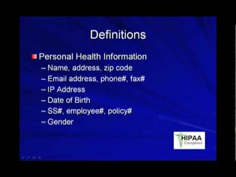 Informatics: HITECH Act Compliance - Part 1 of 2