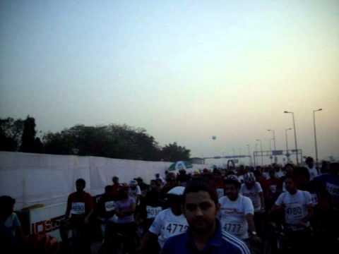 Start of Mumbai cyclothon-2011