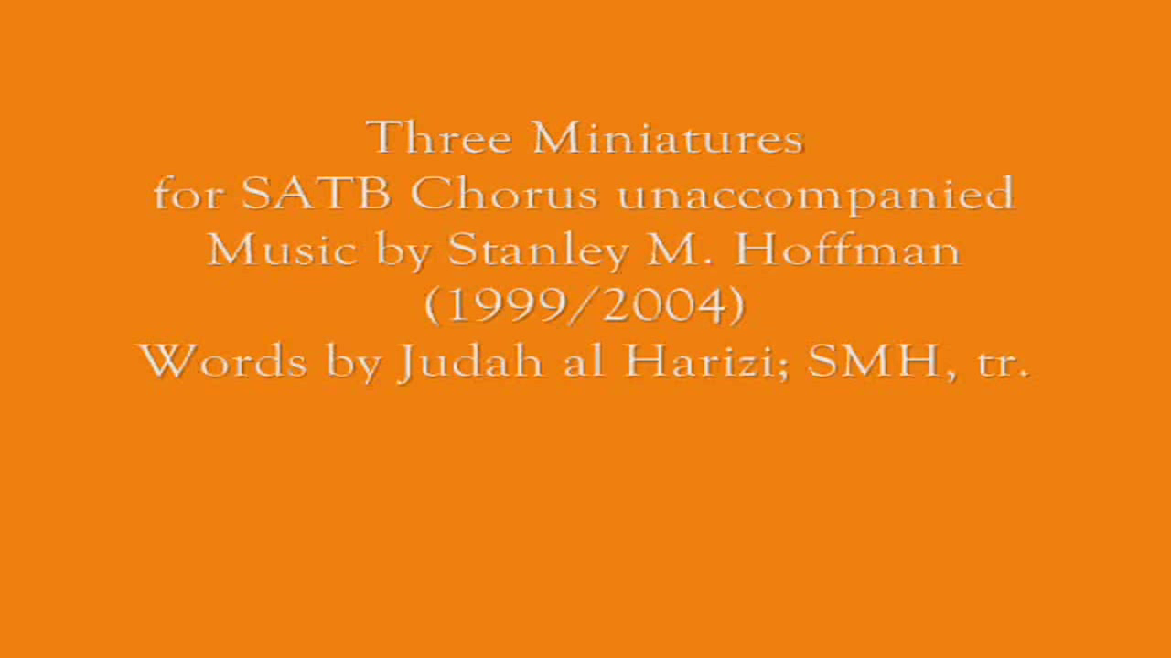 Three Miniatures SATB