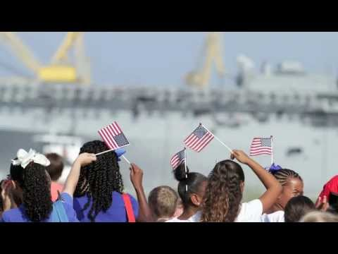 USS America Departs from Pascagoula