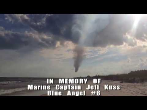 Blue Angels - Marine Captain Jeff Kuss final flyover Pensacola Beach
