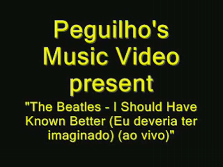 TheBeatles-I Should Have known Better