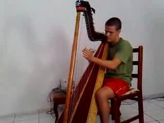 Iron Maiden in the harp