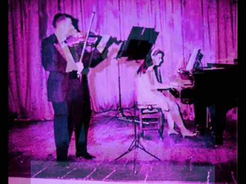 Raquel Crusoé & Aloysio Saliba Mozart Violin Piano Sonata in E minor K. 304 - 1st movement