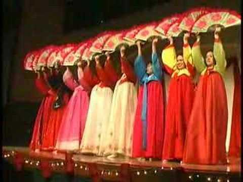 Dança dos leques coreanos