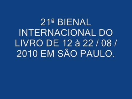 21ª BIENAL INTERNACIONAL DO LIVRO EM SÃO PAULO_0001