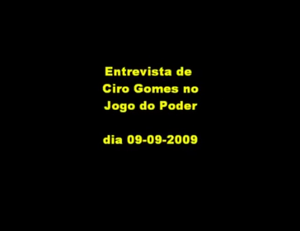 Ciro Gomes fala do governo de FHC