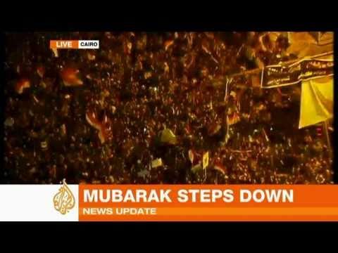 Tahrir Sq reacts to resignation