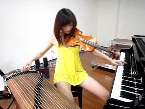 Piano, violino e guzheng