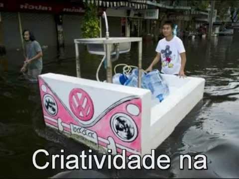 Enchentes frequentes na Tailândia e idéias muito criativas