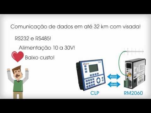 Redes RS485 via rádio!