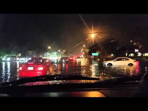 Cars Sinking in Flash Flood in Boca Raton Florida