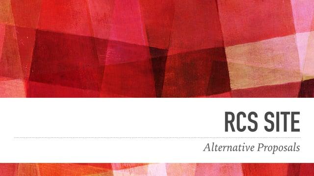 RCS Alternative Schemes