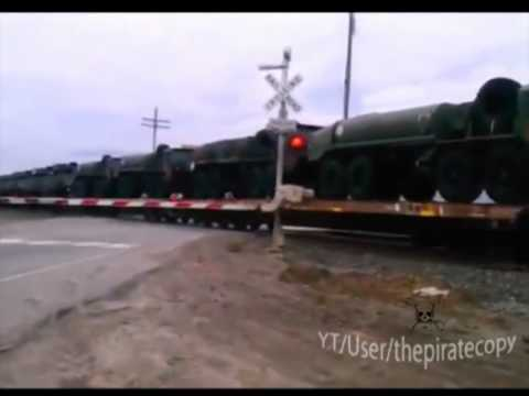 USA ,Hundreds of APC`s on a train in Watsonville, CA south of Santa Cruz, heading south 20.1.2012.
