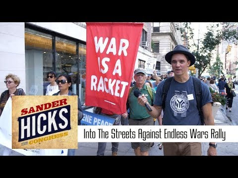 """Sander Hicks at the """"Into The Streets: Against Endless Wars"""" Rally, 2017 Oct 7"""