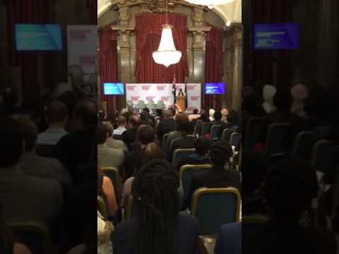 Speaking on behalf of youths at the launch of the Global Youth Development Index 2016 in London