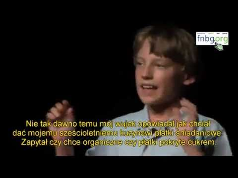 Kid speaks about the system, farming and organic food!