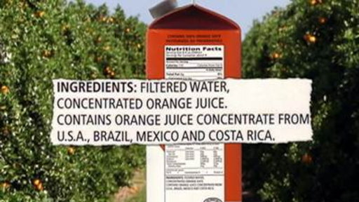 FDA Halts Orange Juice Imports