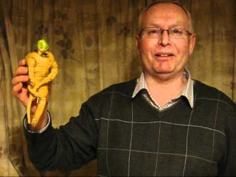 Naked Parsnip Man - with arms, legs and something rather withered!