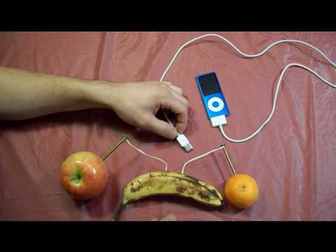 How to Charge an ipod with fruits.