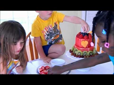 Watermelon Cake! ~ a Raw and Vegan Recipe for Kids!